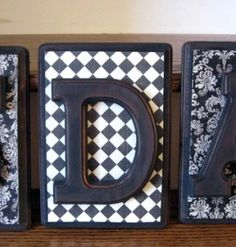 """Monogram """"Framed"""" Letters"""