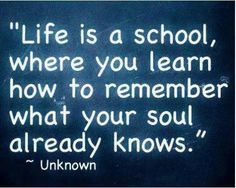 Your soul already knows...