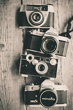 I plan to design a tattoo like this photo, with my own vintage camera collection
