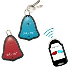 Never loose your keys again! Simply press and hold down the color coded button on the radio transmitter until the corresponding colored receiver beeps to find the item up to 60 feet away and hidden under the pillows or across the walls.