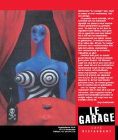 Advertentie voor restaurant Le Garage