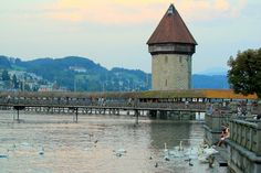 Chapel Bridge and Water Tower, Lucerne
