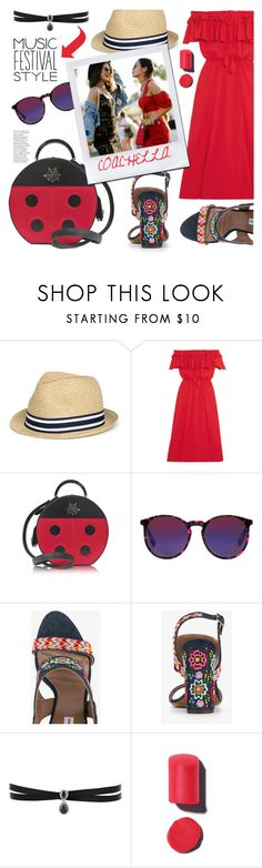 """Show Time: Best Festival Trend"" by samra-bv ❤ liked on Polyvore featuring J.Crew, Charlotte Olympia, McQ by Alexander McQueen, Fallon and festivalfashion"