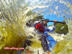 Hang On !!! Kayaking on the Kettle River in Minnesota.  http://mnrafting.com #mnfun #mnrafting #mnadventure