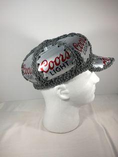 8452954aab9af Coors light beer can hat  crochet hat Coors Light