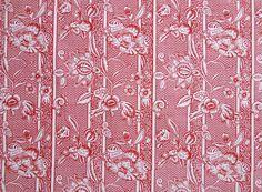 Kattuner: Saga Red Pattern Art, Pattern Design, Print Design, Cotton Linen, Printed Cotton, Cotton Fabric, Textile Prints, Textile Design, Century Textiles
