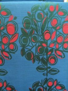 vintage fabric, 1960s/1970s - fjord: Baden