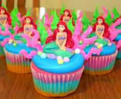 Ariel cupcakes would be good for a little girls birthday
