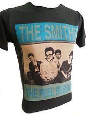 The Smiths Men T-Shirt Rock Punk Metal Retro Vintage black stonewashed R-029