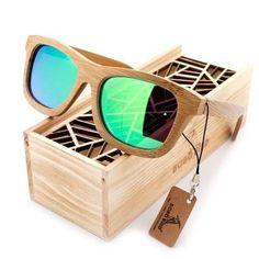 c0725d9eada1 BOBO BIRD 6 color Polarized Bamboo Wood Sunglasses Women Men Mirror Coating Lenses  Eyewear with Gift Wooden Box Vintage 2017