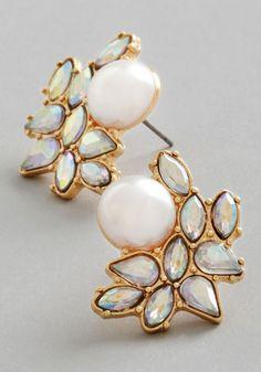 sparkle studs mothers, accessori, modcloth, opul earring, vintage earrings, stud, gold, jewelri, retro vintage