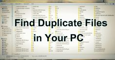 Lots of contents in our system are the duplicate files. So today I am going to s… Lots of contents in our system are the duplicate files. So today I am going to show how can you use duplicate files finder and delete files from your computer. Technology Hacks, Computer Technology, Computer Programming, Energy Technology, Educational Technology, Computer Science, Technology Apple, Technology Quotes, Technology Wallpaper