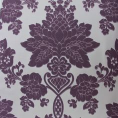 58.08$  Buy here - http://ali5dy.worldwells.pw/go.php?t=32678289773 - Damascus suede purple 3d flocking Wall covering papel de parede 3d WallPaper Roll Living room Bedroom wall papers home decor