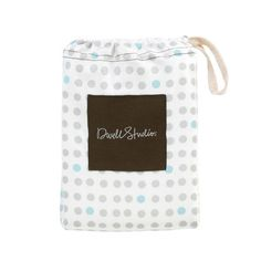 DwellStudio TRAFFIC DOT LT. BLUE FITTED CRIB SHEET