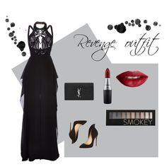 """""""Linda's revenge outfit"""" by courtneyjanecullen on Polyvore featuring Christian Louboutin, Elie Saab, Yves Saint Laurent, MAC Cosmetics, TheBalm and Forever 21"""
