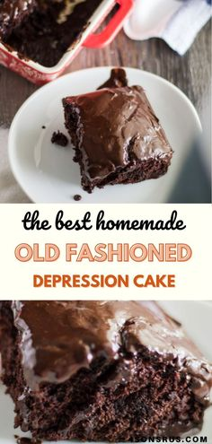 Old fashioned Depression cake is a World War II era, chocolate cake that uses pantry staples to create a timeless treat you'll love. It is super easy to make this easy homemade dairy and egg-free chocolate cake and dress it up with your favorite flavors.