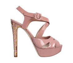 Dior sandals in pale pink patent leather