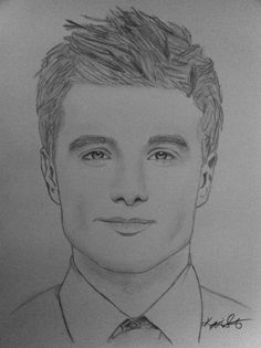 "Josh Hutcherson ""Peeta"" #HungerGames - SOLD - If interested in this drawing please contact me. Katsilvestri@me.com or view other artwork go to Etsy.com: katsilvestri"