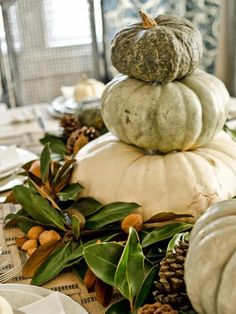 ~rooms FOR rent~: My Pinterest Fall Inspiration for 2013 Thanksgiving Table Settings, Thanksgiving Centerpieces, Thanksgiving Games, Thanksgiving Holiday, Pumpkin Centerpieces, Rustic Thanksgiving Decor, Topiary Centerpieces, Holiday Tablescape, Family Holiday