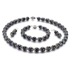 MarieAnt Black 8-9mm AA Quality Freshwater Cultured Pearl Set. Included FREE with your cultured pearls set is an Appraisal Certificate prepared by a Pearl Expert describing in detail your set size, color and body shape. A color picture of your set is shown on each certificate to ensure carefree insurance claims should those ever arise. It is a wonderful keepsake that shows you truly care. Create a WOW! Experience with a FREE matching gift box. Our boxes are exclusively designed for...