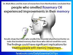 Rosemary oil for memory enhancement! For more info on doTERRA Essential Oils, see www.FB.com/TransformationalEssentials