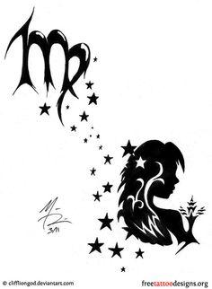 Virgo tattoo design
