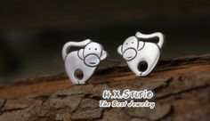 Silver Monkey Earring, 990 Silver Monkey Ear Studs, Handmade Silver Ear Studs, Anniversary, Birthday, Christmas, Gift, Wholesale Available