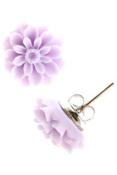 Dandelion Earrings in Purple   T.I.L. Darling