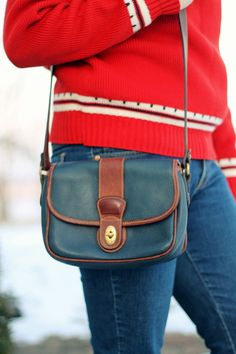 Never seen this Vintage Coach, I think it may be vintage Ralph Lauren or Dooney & Burke but regardless it's perfect!
