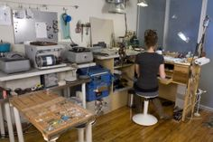 I love Sarah Lewis jewelry and I am so jealous of this studio space!!!!!!!!!