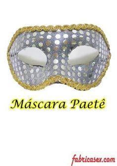 Máscara Paetê Prata