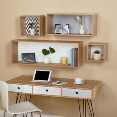 Simple Living Geometric Wall Cubbies. Overstock.com