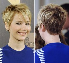 Am I brave enough? Jennifer Lawrence: Punk Rock Hair & Flawless Skin At Photocall Rock Hairstyles, Cute Hairstyles For Short Hair, Pretty Hairstyles, Short Hair Cuts, Short Hair Styles, Blonde Hairstyles, Short Pixie, Love Hair, Great Hair