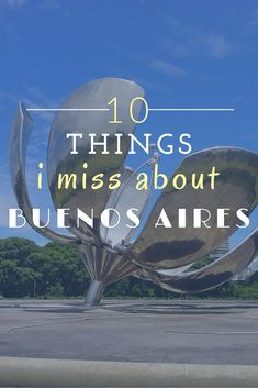 I miss Buenos Aires everyday. I would consider it my home away from home. The bustling streets littered with dog poop, the noisy buses and honking taxis... ahhhh, that's home. But here are the 10 things I miss most.