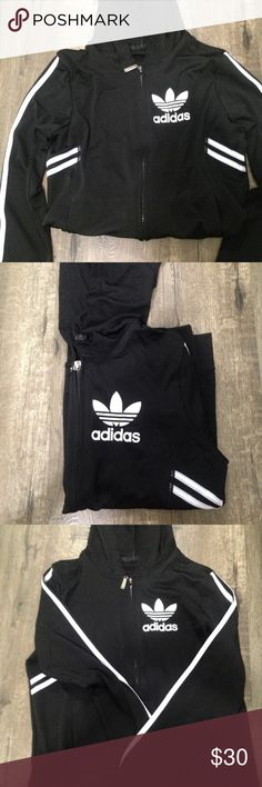 NEW ADIDAS JACKET 100% NEW ADIDAS INSPIRED JACKET SUPER COMFY AND SPORTS MATERIAL. SIZE S/M FIT BOTH SIZES. Check my other listing Nike, adidas, forever 21, champion, converse , triangl , bikinis, hollister, American eagle, brandy Melville, Lacoste, too faced, Mac, clinique,Aeropostale, gap,Calvin Klein,ethika,tom,vans adidas Jackets & Coats
