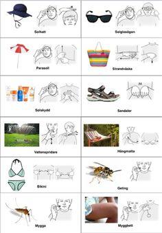 sommar-arkiv - Tecken som stöd - Toppbloggare på Womsa Sign Language, Signs, Autism, Preschool, Teacher, Education, Images, Google, Desserts
