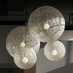 Luminárias com Barbante