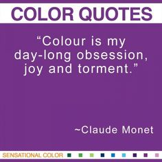 Quotes About Color By Claude Monet
