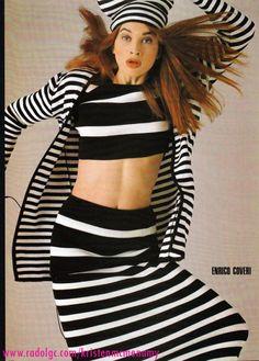 knitGrandeur: 80s Black & White Stripes-co Coveri, Vogue Germany 1986