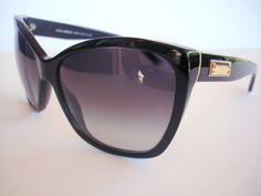 NEW Dolce and Gabbana Sunglasses DG 4111 Black 501/8G Authentic #DolceAndGabbana #Designer