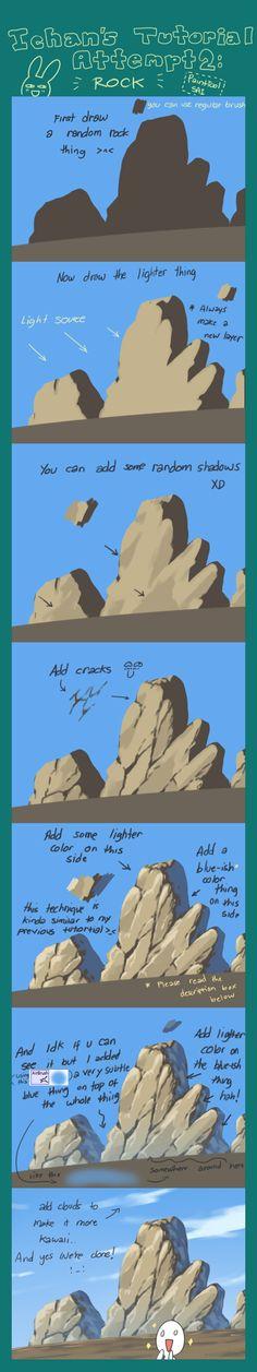 Tutorial Attempt: Rock by ichan-desu.deviantart.com on @deviantART