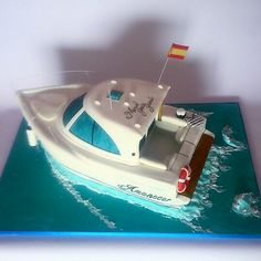 Boat Cake, Boat Theme, Nautical Cake, Cake Templates, Sea Cakes, Cake Topper Tutorial, 40th Birthday Parties, Cocktails, Pretty Cakes