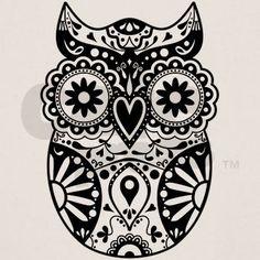 Sugar Skull Owl Tee on CafePress.com