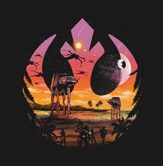 Pop Culture Negative Space Illustrations: Rogue One - Dan Elijah