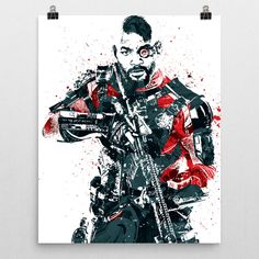 Deadshot poster. Deadshotis a fictional character who appears in American comic books published by DC Comics, commonly as an adversary of Batman. He has traditionally been portrayed as a supervillain,