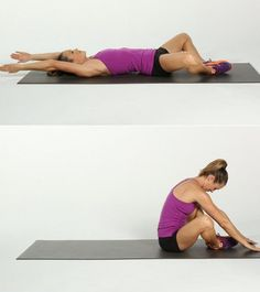 Technically a sit-up, this effective move works the abs through a larger range of motion and adds some functional fitness training to the challenge. Lie on Fitness Workouts, At Home Workouts, Ab Workouts, Sit Up, Hiit, Amrap Workout, Body Weight Ab Workout, Pilates Videos, Crunches