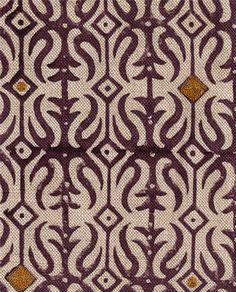 Bandra in Brinjal Purple from Seema Krish #fabric #linen #cotton #purple #gold