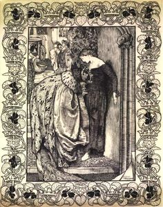 King Cophetua and the Beggar Maid, by Eleanor Fortescue Brickdale, ROI, RWS Bristol Cathedral, Illustrations, Illustration Art, The Lady Of Shalott, Most Popular Artists, Fable, Fairytale Art, Pre Raphaelite, Faeries