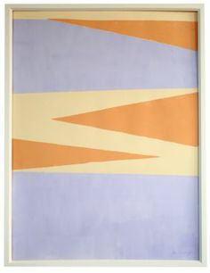 """Lavander and Tangerine Pointed Realm"" by Jennifer Ament, $425, 22.5"" x 30"", available at Serena & Lily. #serenaandlily"