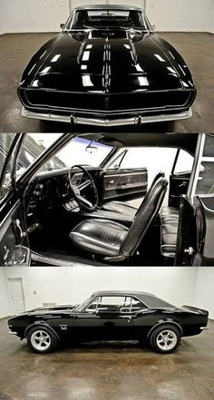 black 1967 Camaro #muscle #car ★ re-pinned by http://wfpcc.com/jupiterrealestate.php